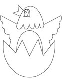 egg hatching coloring page