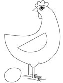 hen and egg coloring page
