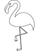 flamingo on one foot coloring page