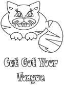 cat got your tongue coloring pages
