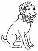circus dog clown coloring page