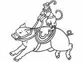 circus pig coloring page