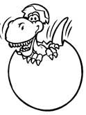 dinosaur hatching coloring pages