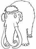 wooly mammoth coloring page