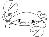crab coloring page