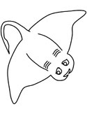 ocean animals - sting ray coloring page
