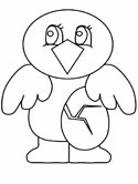 bird and egg coloring page