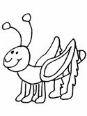 grasshopper coloring page
