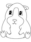Mammals of Hungary: hamster coloring page