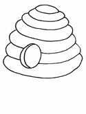 bee hive coloring pages