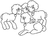 Easter lamb or sheep coloring page