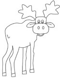 mammals of Norway: elk colouring page