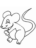 mammals of Norway: mouse coloring page