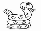 Reptiles of Hungary: snakes coloring page