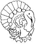 turkeys coloring page