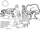 Abraham Bible coloring page
