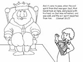 Bible coloring page - 1 Samuel 16:23