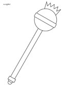 medieval scepter coloring page