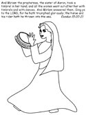 Moses coloring page - Exodus