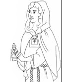 Bible coloring pages - Mary Magdalene