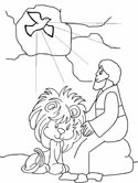 daniel and the lion's den coloring page