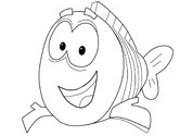 Mr. Grouper coloring pages