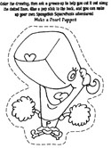 spongebob squarepants coloring page puppets. Black Bedroom Furniture Sets. Home Design Ideas
