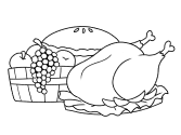feast coloring page