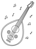 Oud instrument coloring page