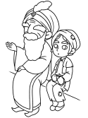 Sinbad and Hinbad coloring page