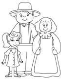 farmer's family coloring page