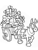 Load of Christmas gifts coloring page