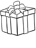 Christmas present coloring page
