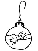 Christmas ornament coloring page