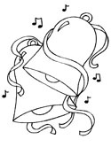 church bells coloring page
