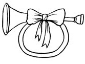 Christmas horn coloring page