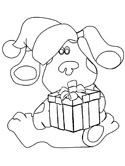 Christmas Blue's Clues coloring page