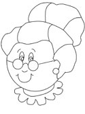 Mrs. Santa Claus coloring page