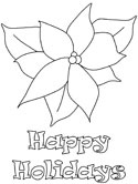 holiday poinsettia coloring page
