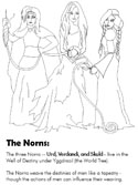 Norse Mythology - The Norns coloring pages