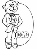 dad bear coloring page