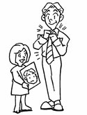 dad and daughter coloring page