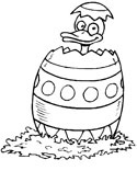 hatching Easter egg coloring page