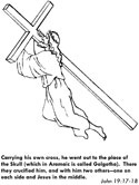 Jesus carries the cross coloring page