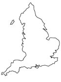 blank map of england coloring page