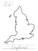 england coloring page
