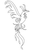 monsters and creatures - phoenix coloring page