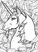 unicorns coloring page