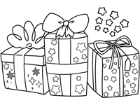 Christmas Gifts And Toys Coloring Pages