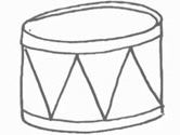 drum coloring page